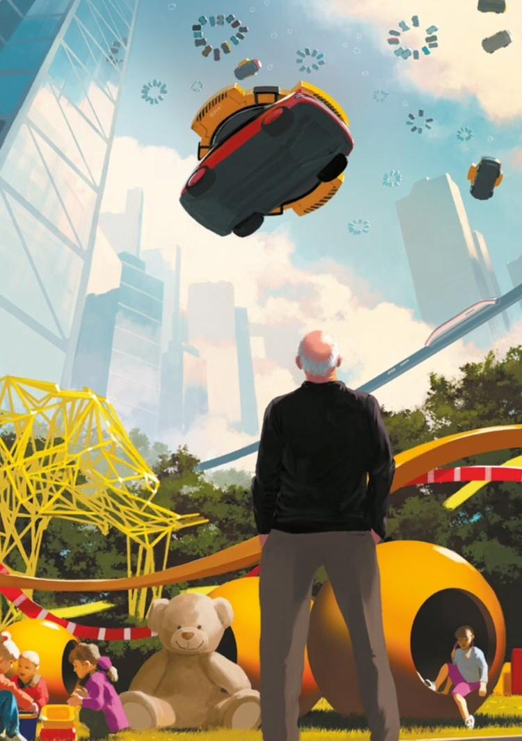 Транспортные модули можно будет оставить не только на земле, но и в небе на магнитных парковках.