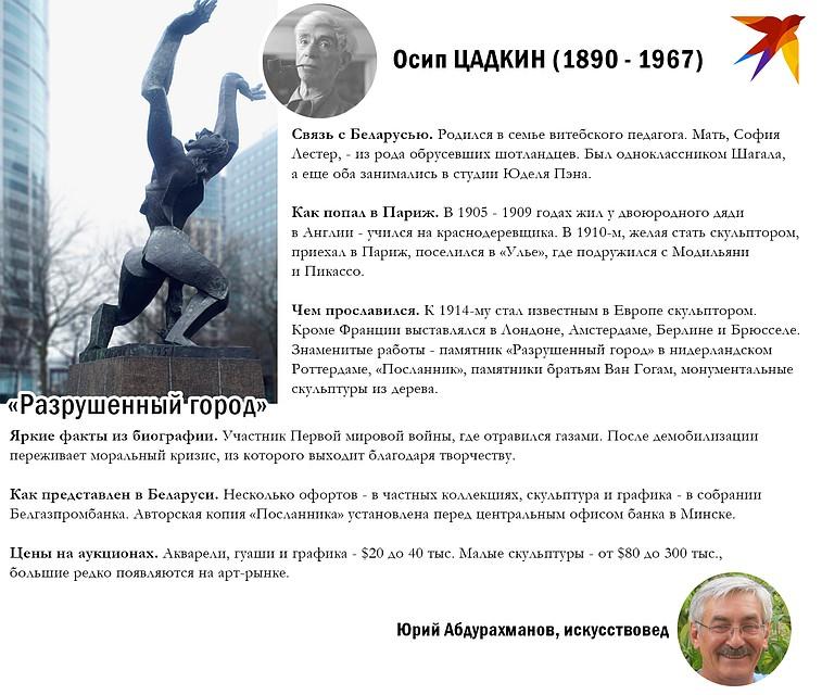 Рассказываем о Цадкине. Фото: Игорь СОЛОВЬЕВ