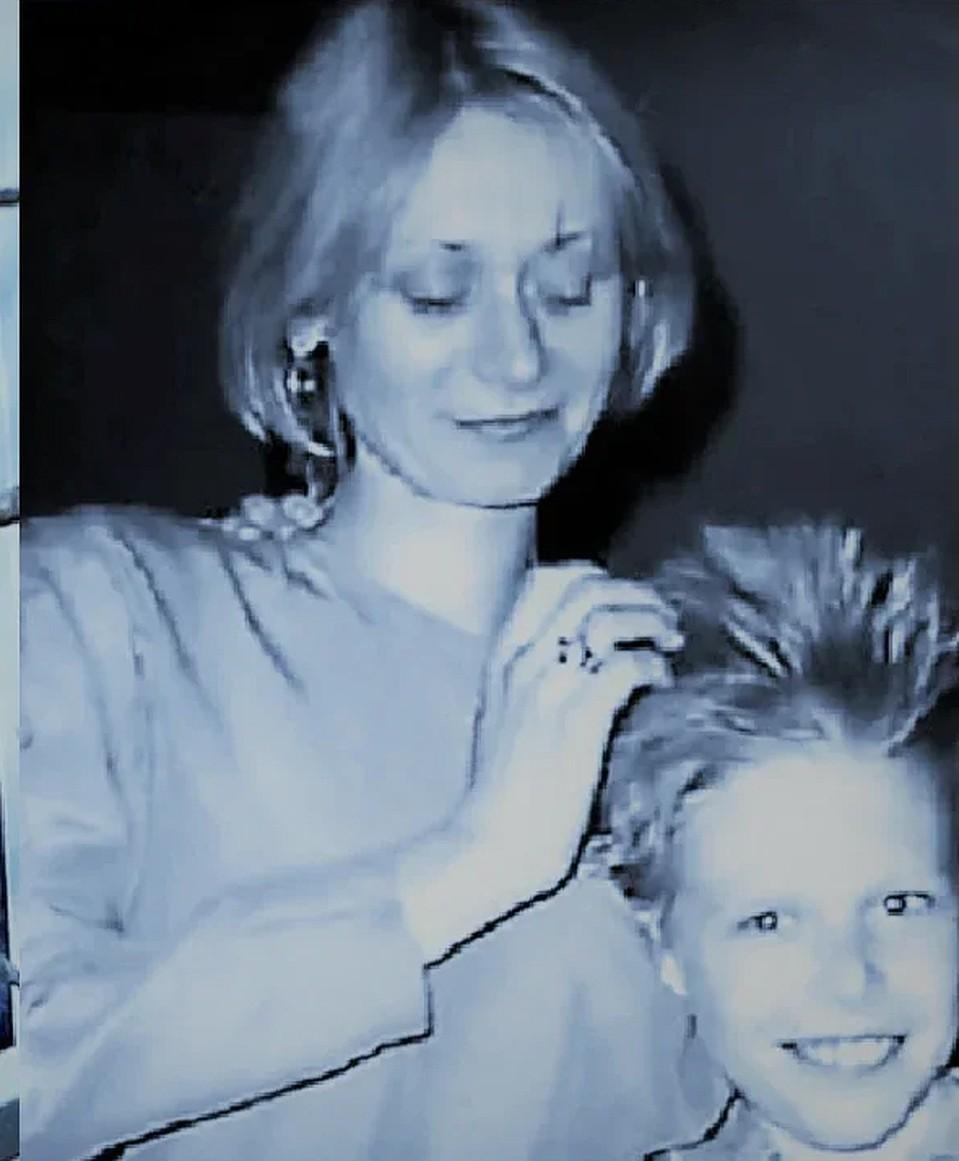 Вторая жена актера Ася Воробьева. Фото: кадр видео.