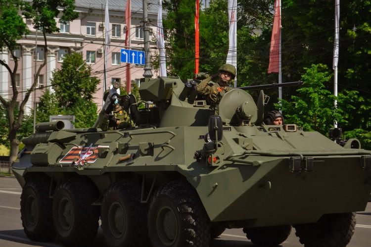 Репетиция парада Победы.