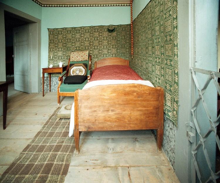Внутренний интерьер комнаты Гете в веймарском доме.