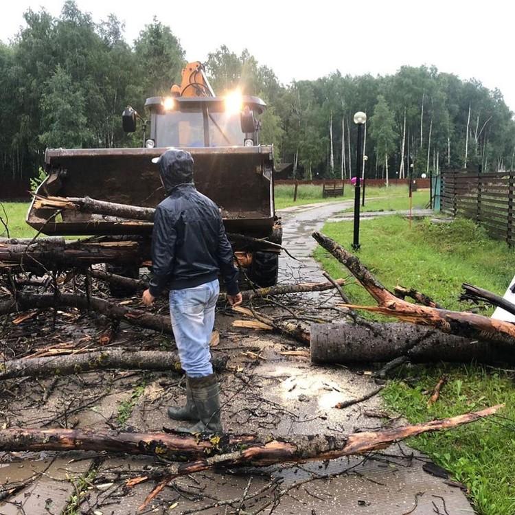 Для расчистки дорог привлекают тракторы.