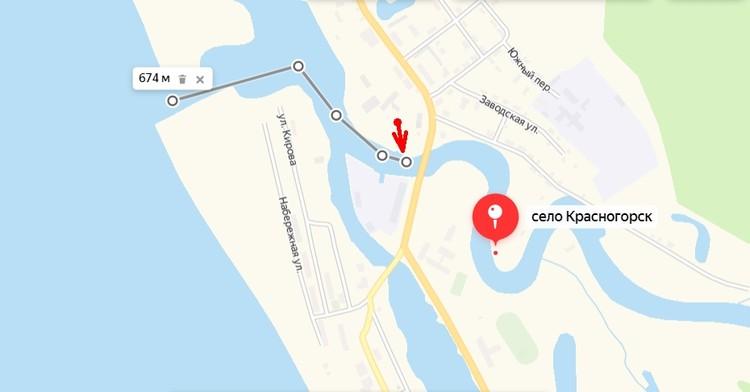 Место, где поймали акулу. Источник: Яндекс-карты