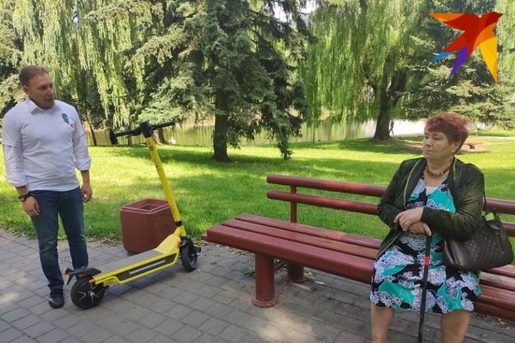 Пенсионерке Марии Михайловне понравился молодой кандидат в президенты Андрей Дмитриев.