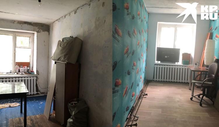 Узнав, в каких условиях живет семья, на помощь пришли незнакомцы и преобразили квартиру: смотрите сами, как изменилась комната. Фото: Анна ТАЖЕЕВА.