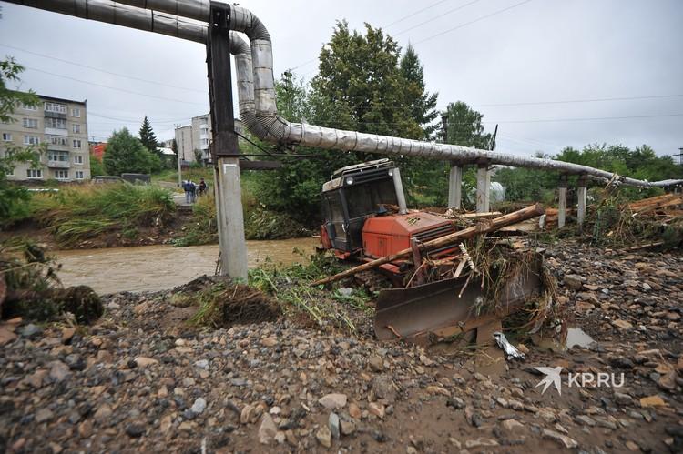 На Нижние Серги 20 июля обрушились ливни, спровоцировавшие потоп