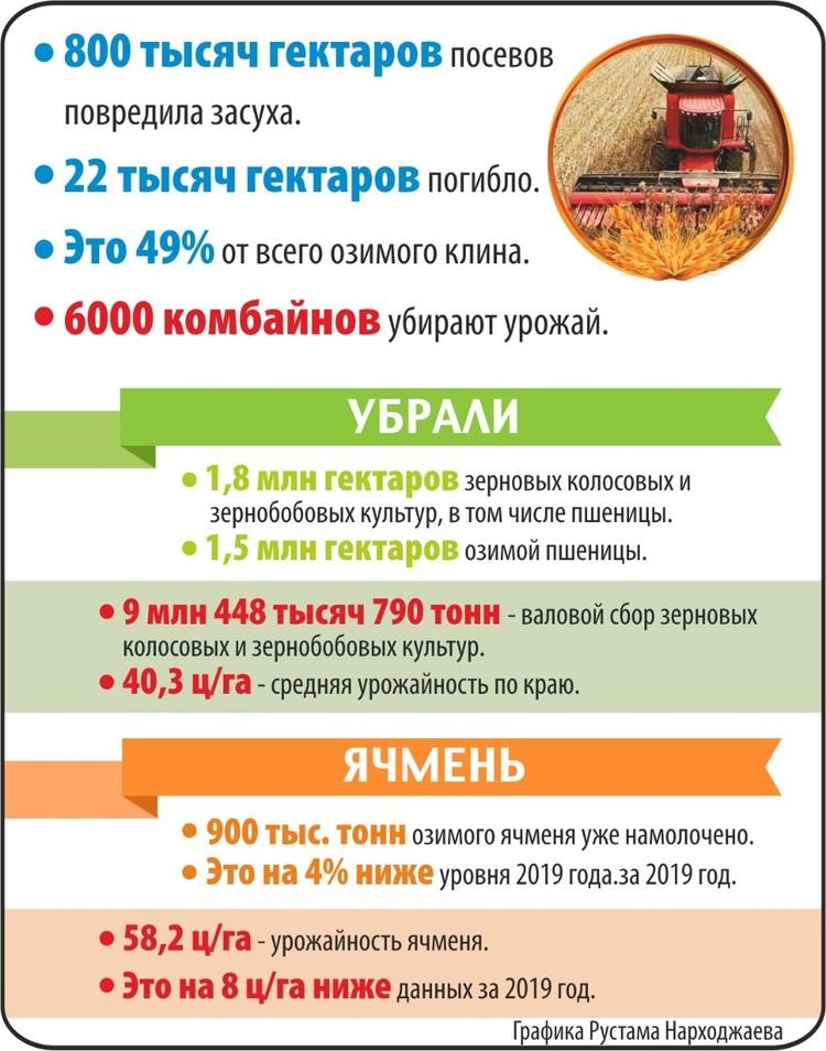 Урожайность в Краснодарском крае
