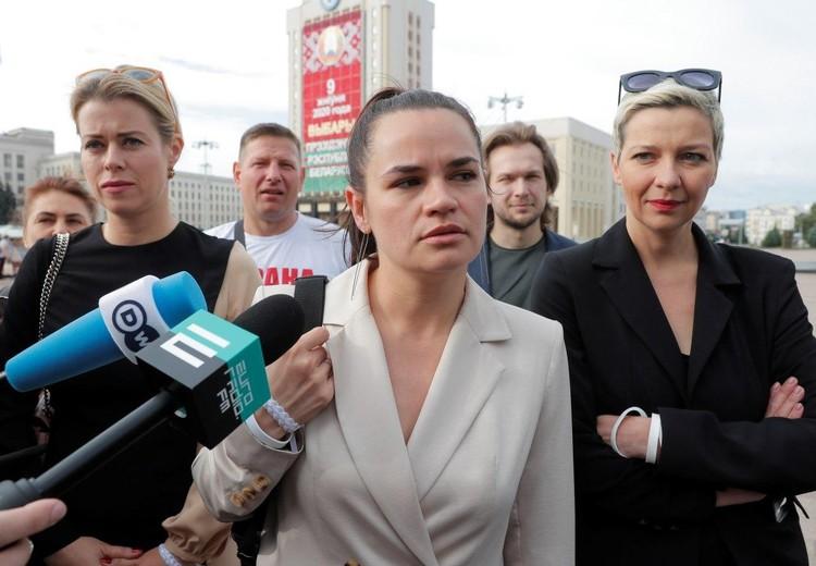 Кандидат в президенты Светлана Тихановская рассказывала истории о своем арестованном муже.