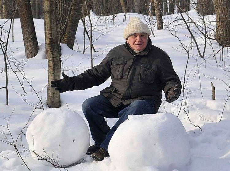 Василий Песков в Воронежском заповеднике, который получит его имя. Фото Сергея Жданова.