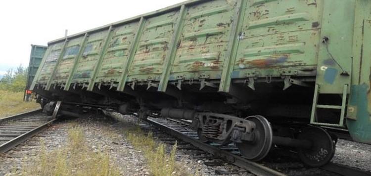 22 июля 2019 года в районе станции Керки сошли 23 вагона с углем грузового поезда Воркута – Череповец. Фото Печора Today.