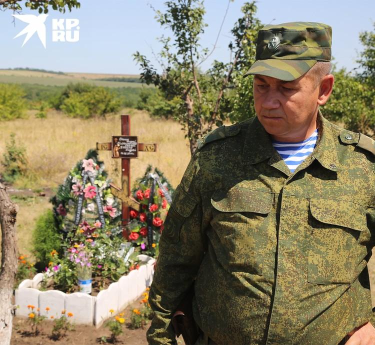 Крест на месте гибели Андрея Стенина, 2015 год.