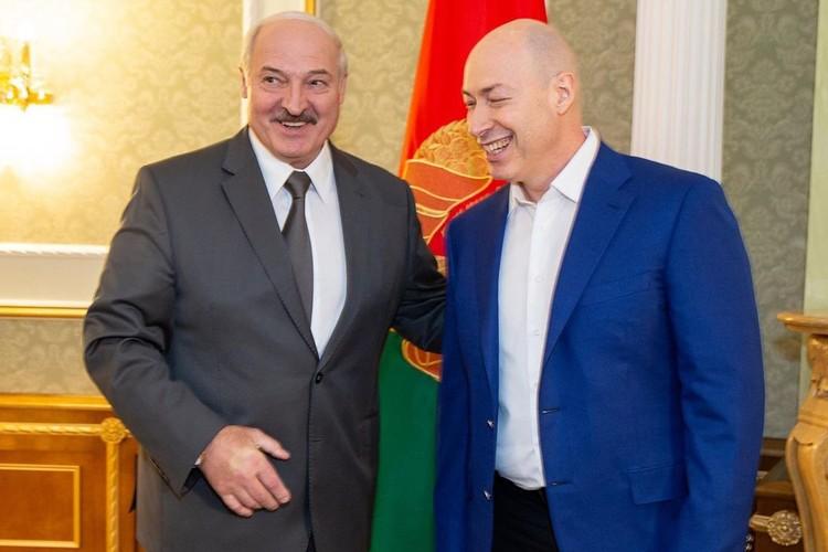 Александр Лукашенко пригласил Дмитрия Гордона во Дворец Независимости. Фото: instagram.com/gordondmytro