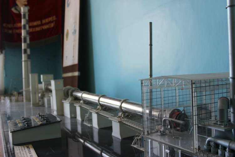 В музее экспонируется макет завода