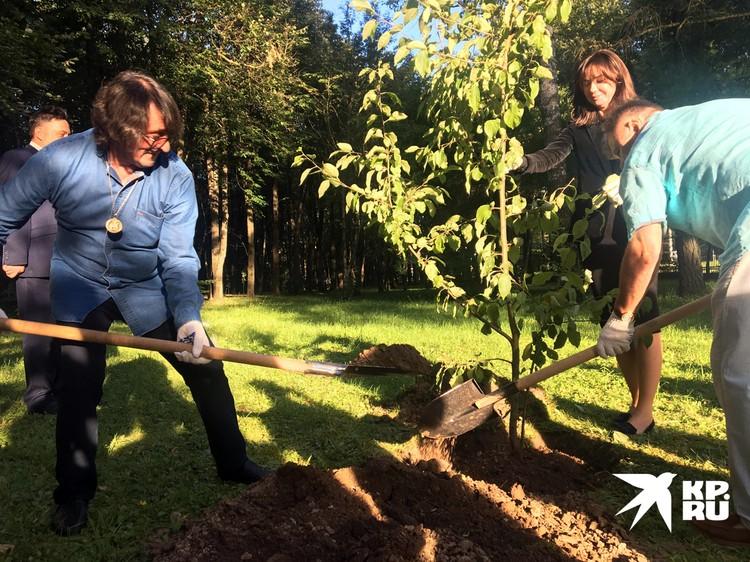 Игорь Бутман и Юрий Башмет посадили яблоню