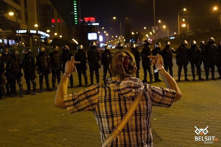 Большая часть протестующих - молодежь. Фото: Белсат