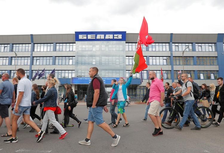 Протесты в Жодино