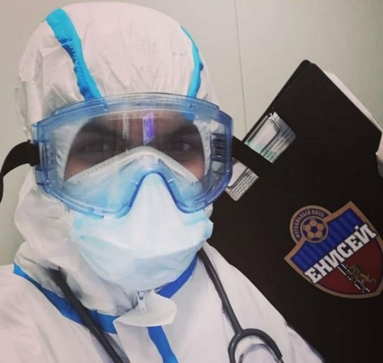 Аскеров в защитном костюме Фото: личная страница героя публикации в Инстаграм