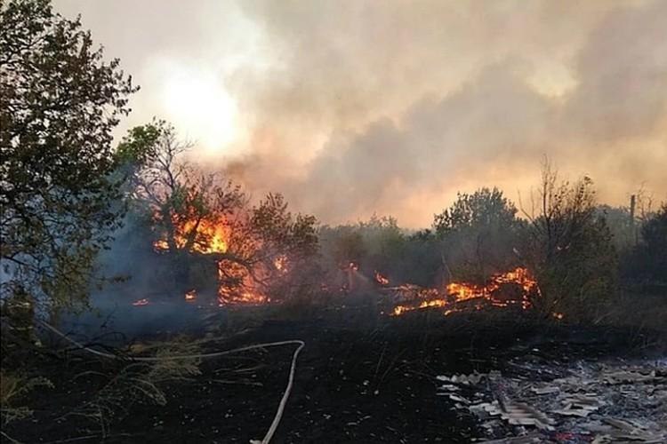 Бороться с огнем помогают и местные жители. Фото: ГУ МЧС России по РО.