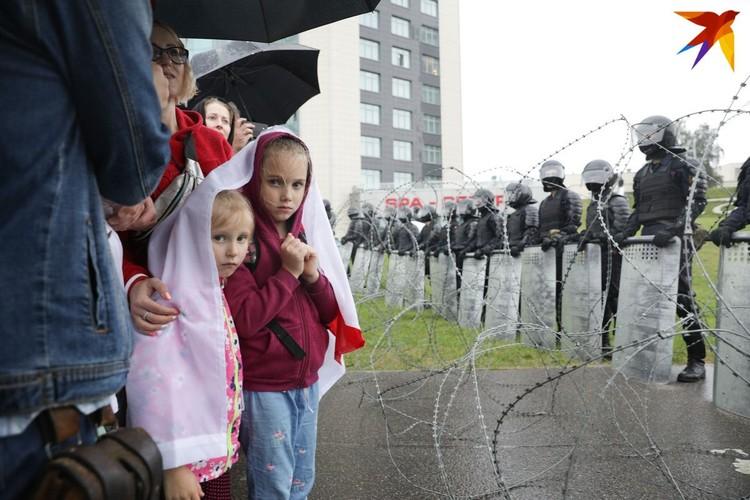 Белорусы на акции протеста.