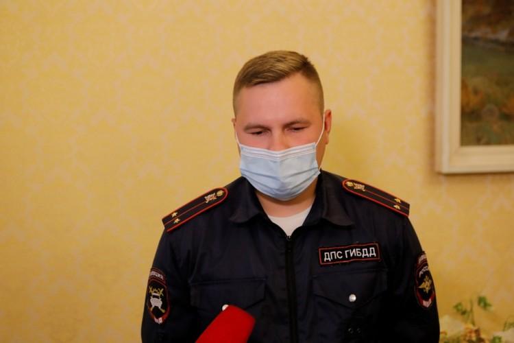 Инспектор ДПС лейтенант Александр Чуркин