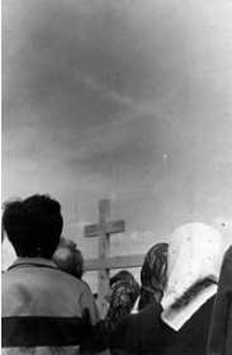 Крест в небе. Фото: Крестовоздвиженский собор Лесосибирска, официальный сайт.