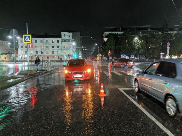 Пожилая женщина-пешеход получила травмы