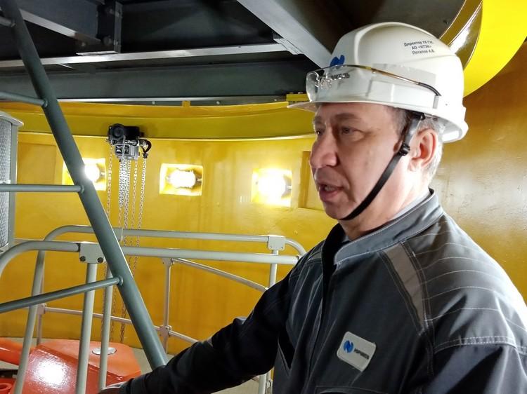 Директор Алексей Потапов, к слову, потомственный энергетик, его родители строили Усть-Хантайскую ГЭС