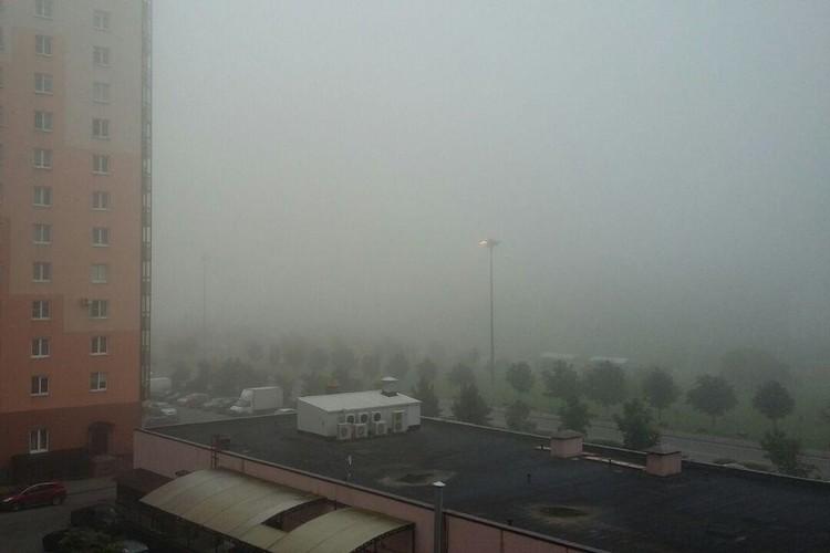 Петербург погрузился в туман.