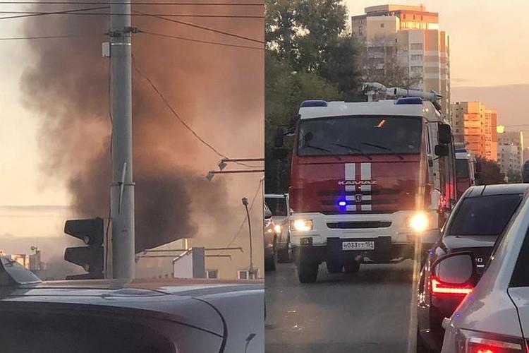 Пожар переполошил весь город. Фото: читатель КП-Новосибирск