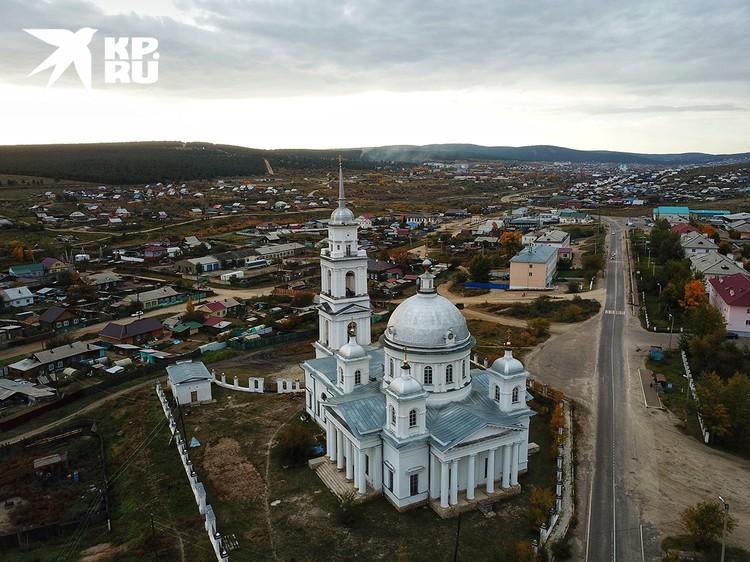 Собор Воскрешения Христова. Построен между 1830 и 1838 г.г. на пожертвования кяхтинского купечества.