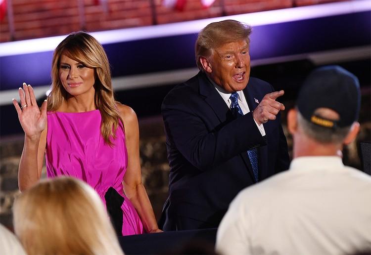 Дональд и Мелания Трамп в августе 2020 г.