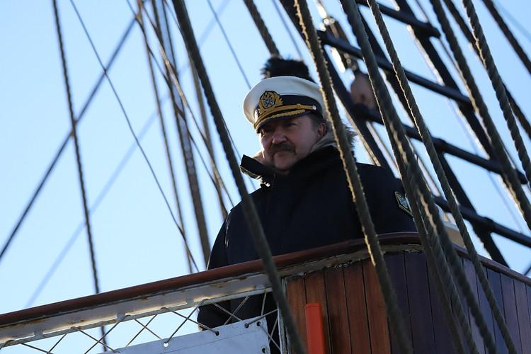 Капитан барка Виктор Юрьевич Николин. Фото - Виктор Гуменюк