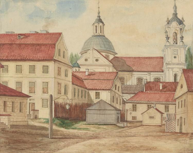 Гродно путешественники XIX века видели примерно таким, как запечатлел на своей гравюре Наполеон Орда. Фото: mnk.pl