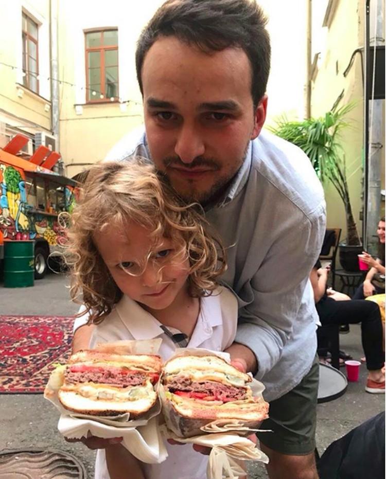 Максим Хорошин с сыном Семеном. Фото: Инстаграм