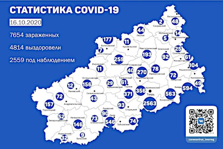Сколько заразилось коронавирусом в Тверской области. Графика: ПТО.