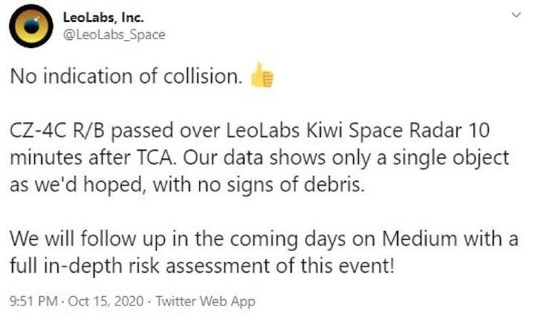 Специалисты, мониторящие космос, оповестили, что угроза вроде бы миновала.