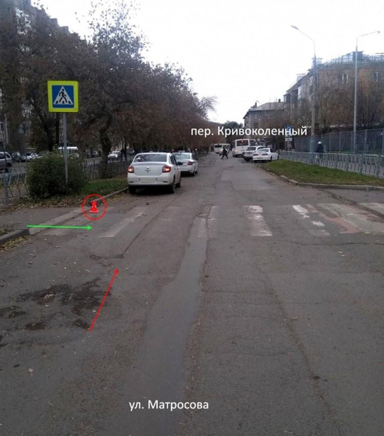 7-летний ребенок попал под машину Фото: ОГИБДД МУ МВД России «Красноярское»