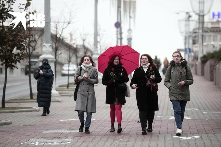 В центре Минска снова прошел «женский марш»