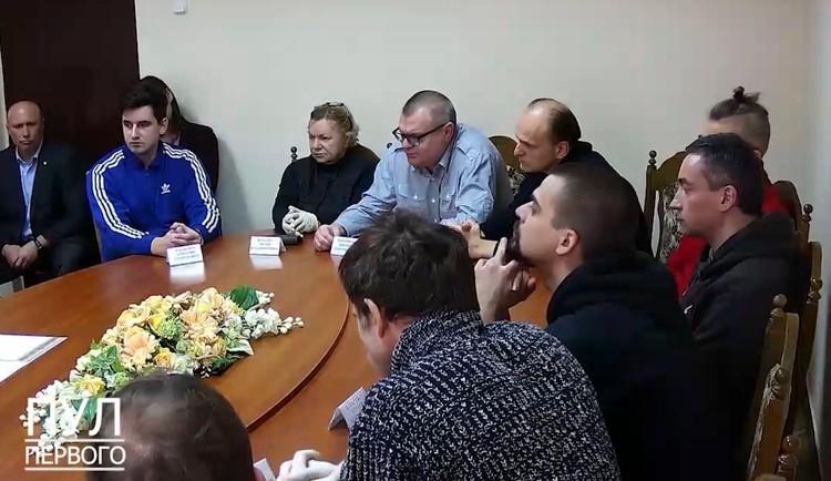 Участники встречи с президентом Лукашенко в СИЗО КГБ Белоруссии.