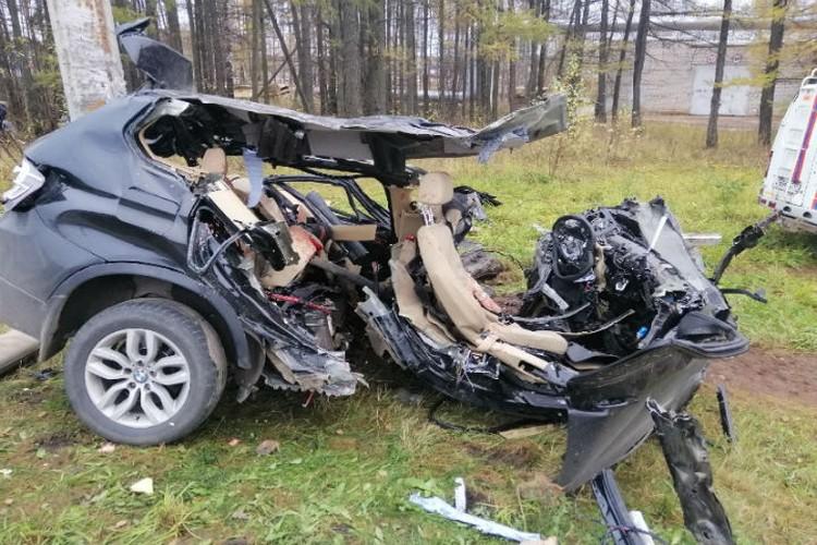 Удар был такой силы, что пострадавшая пассажирка вылетела из салона машины. ФОТО: УМВД России по Ивановской области