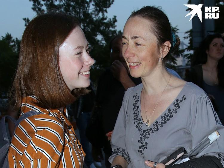 Жена актера Софья Кругликова с дочкой Верой.