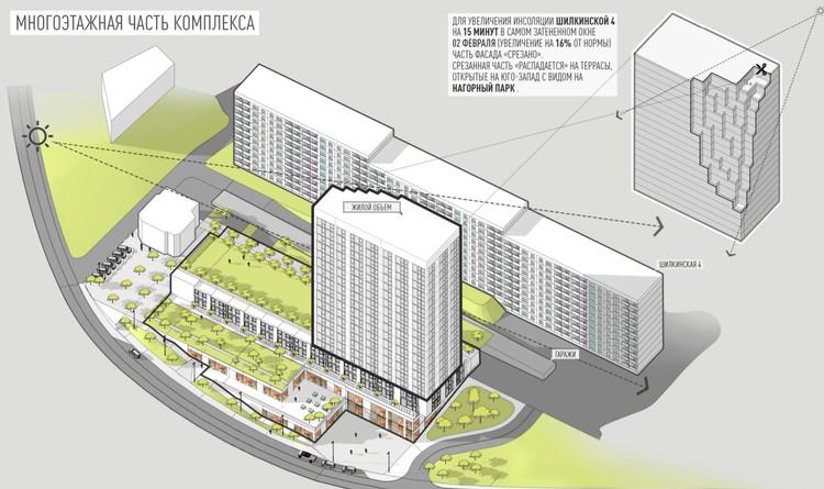 """Проектировщики """"срезали"""" часть здания для того, чтобы у жителей соседнего дома было больше солнечного света"""