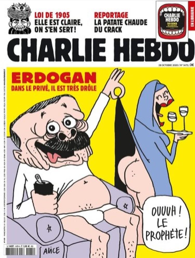 Charlie Hebdo опубликовал карикатуру на Тайипа Эрдогана. Фото: Twitter Charlie Hebdo.