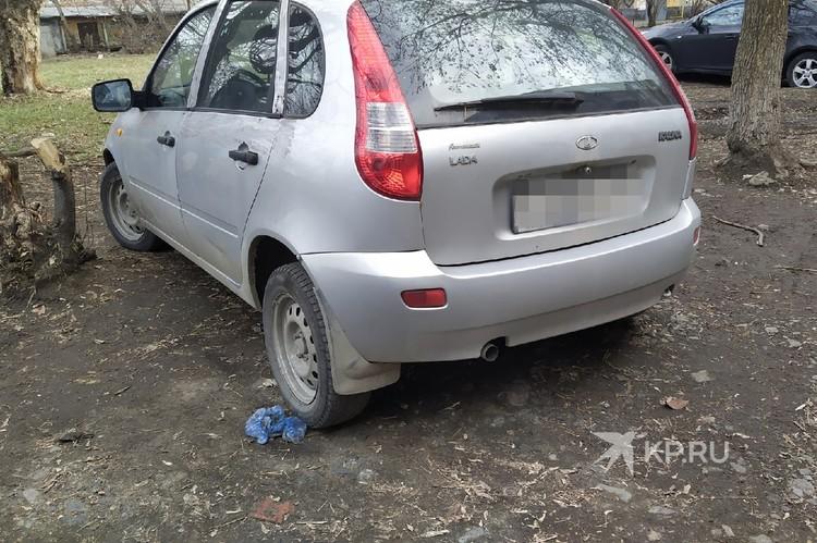Машина, которая предположительно принадлежал Дмитрию.