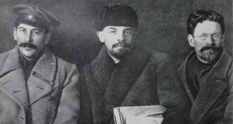 Иосиф Сталин, Владимир Ленин и Михаил Калинин в 1919 г.