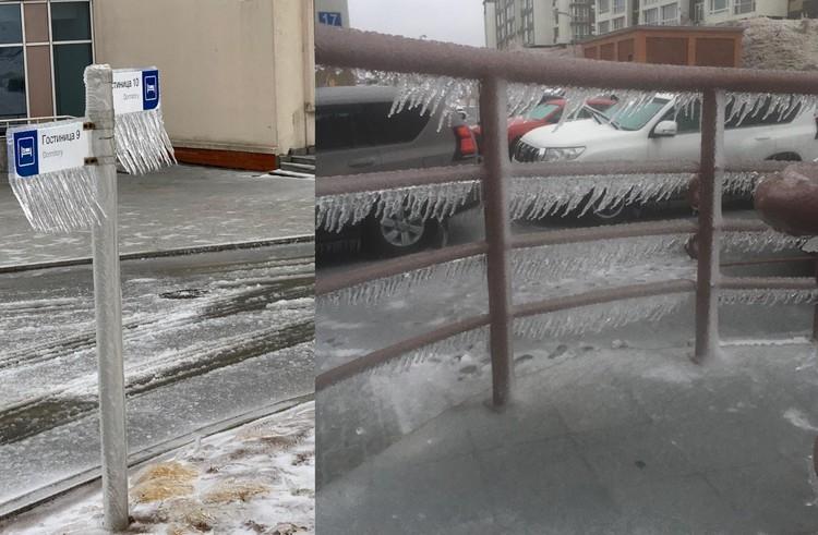 Ледниковый период во Владивостоке. Фото: предоставлено очевидцами.