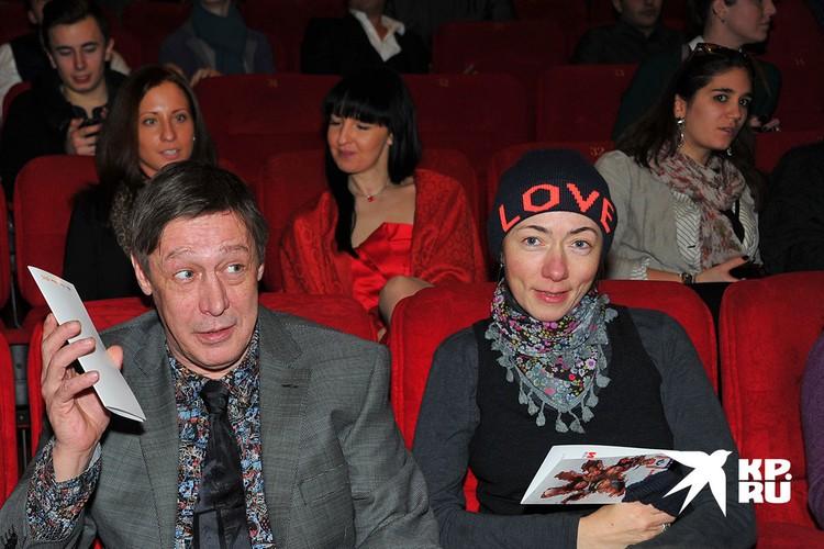 Михаил Ефремов с женой Софьей Кругликовой