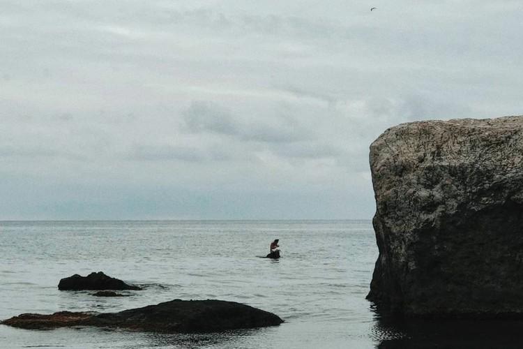 """Птица билась о камень и пыталась освободиться от рыболовного крючка. Фото: личный профиль в """"Инстаграме"""" Алевтины"""