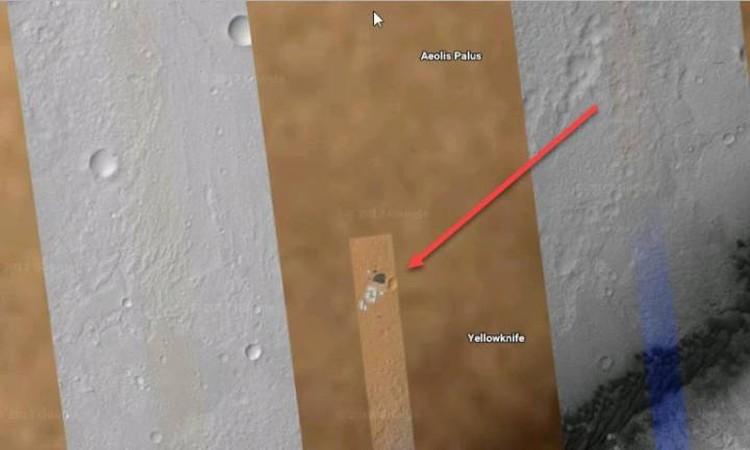 Строение марсианской базы, снятые с большой высоты.
