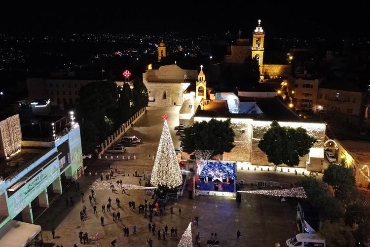El árbol de Navidad en Belén, que hoy en día está habitado predominantemente por musulmanes, seguramente estará listo.